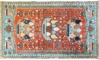"""One Kings Lane Vintage Antique Persian Bakhtiari Rug,2'3"""" x 3'7 - Eli Peer Oriental Rugs - multi/ orange red"""