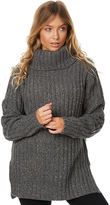 Rusty Heckle Womens High Neck Knit Grey