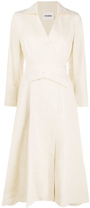 Jil Sander Belted Wrap Dress