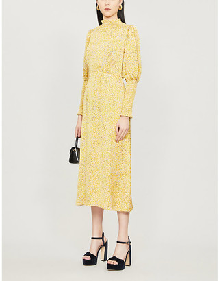 NEVER FULLY DRESSED Delores floral-print crepe midi dress