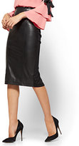 New York & Co. Faux-Leather & Ponte Pull-On Skirt