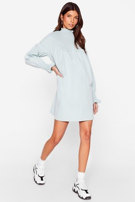 Nasty Gal Womens Shirred It Before High Neck Mini Dress - White - 4, White