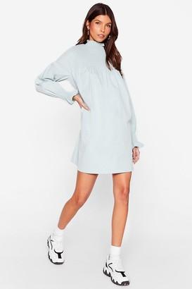 Nasty Gal Womens Shirred It Before High Neck Mini Dress - White - 4