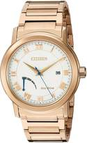 Citizen Men's 'Eco-Drive Dress' Quartz Stainless Steel and Gold Automatic Watch(Model: AW7023-52A)