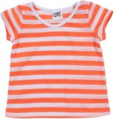 Erge Striped Tee (Toddler/Kid) - Neon Orange-6