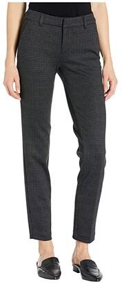 Liverpool Kelsey Knit Novelty Trousers in Glen Plaid (Grey/Black) Women's Casual Pants