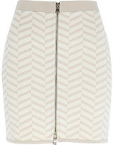 River Island Womens Beige chevron print mini skirt