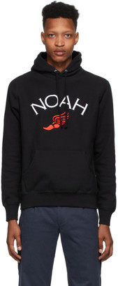 Noah NYC Black Winged Foot Hoodie