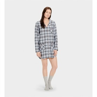 UGG Laura Sleep Dress And Sock Set Fresh Air Plaid M