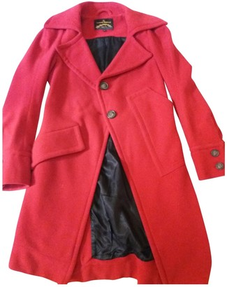 Vivienne Westwood Red Wool Coat for Women
