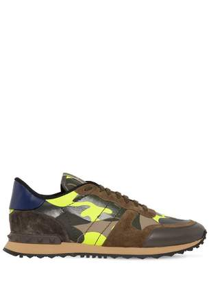Valentino Rockrunner Brown Leather Trainers