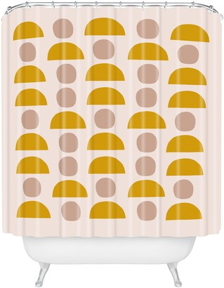 Deny Designs Hello Twigs Shapes Shower Curtain