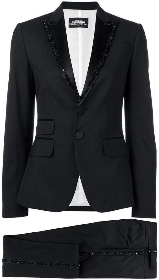 DSQUARED2 bead embroidered suit