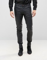 Asos Super Skinny Jeans In Black Coated