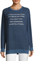 Wildfox Couture Day Off List Sweatshirt