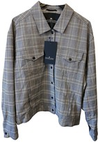 Designers Remix Grey Cotton Leather Jacket for Women