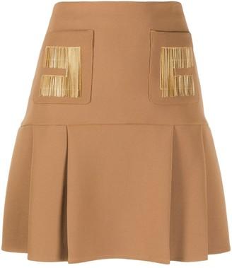 Elisabetta Franchi Embroidered Details A-Line Skirt