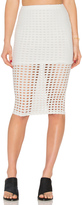 KENDALL + KYLIE Laser Cut Out Skirt