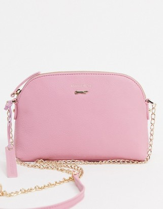 Paul Costelloe cross body bag with chain strap in pink