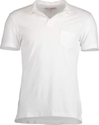 Orlebar Brown White Terry Towelling Resort Polo