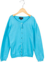 Oscar de la Renta Girls' Button-Up Knit Cardigan