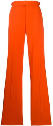 ATTICO High Waisted Straight Fit Trousers