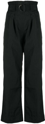 Ganni High-Waist Paperbag Trousers