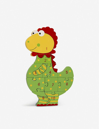 Orange Tree Toys Dinosaur Number Puzzle wooden dinosaur jigsaw puzzle 36cm