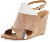 Coclico Jordy Colorblock Wedge Sandal, Beige