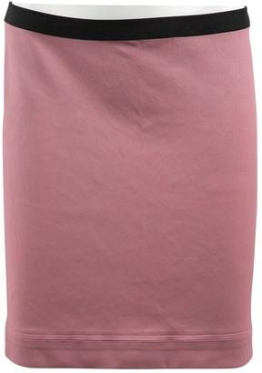 Helmut Lang Purple Leather Skirts
