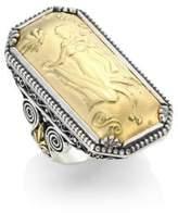 Konstantino Gaia 18K Yellow Gold Rectangular Ring