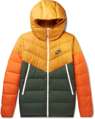 Nike Windrunner Colour-Block Quilted Shell Hooded Jacket