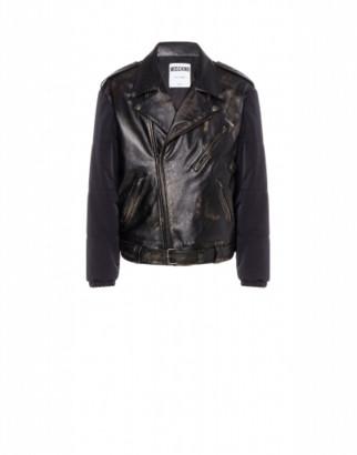 Moschino Nappa Leather And Nylon Biker