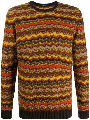 Drumohr stripe knitted jumper