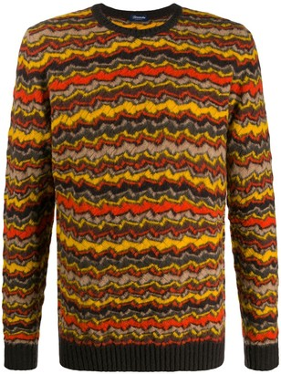 Drumohr Stripe Knitted Jumper