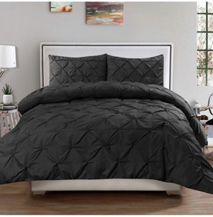 Sweet Home Collection King 3-Pc Pintuck Duvet Cover Set Bedding