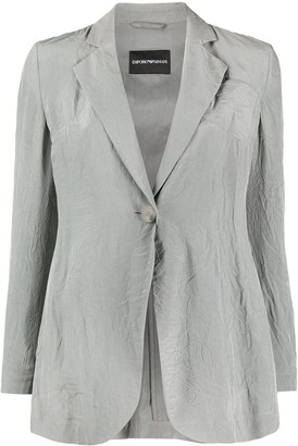 Emporio Armani Creased Single-Breasted Blazer