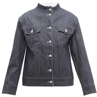 A.P.C. Galway Band-collar Denim Jacket - Womens - Indigo