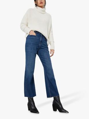 Mint Velvet Monroe Wide Leg Cropped Jeans