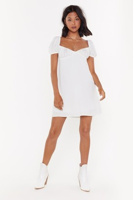 Nasty Gal Womens Cheesecloth Bustier Mini Dress - White - 12, White