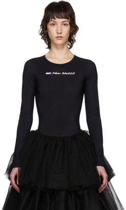 MM6 MAISON MARGIELA Black Logo Bodysuit
