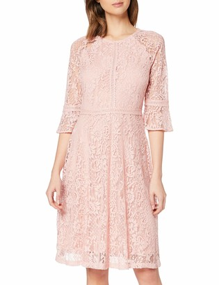 Dorothy Perkins Women's Blush Three Quarter Sleeve Tilly Dress Casual 18
