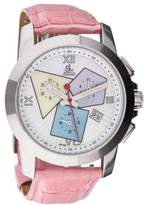 Jacob & co D0737 Stainless Steel Chronograph Mother Of Pearl Dial 38mm Womens Watch
