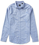 Armani Exchange Chambray Solid Long-Sleeve Woven Shirt