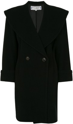 Yves Saint Laurent Pre Owned Double-Breasted Midi Coat