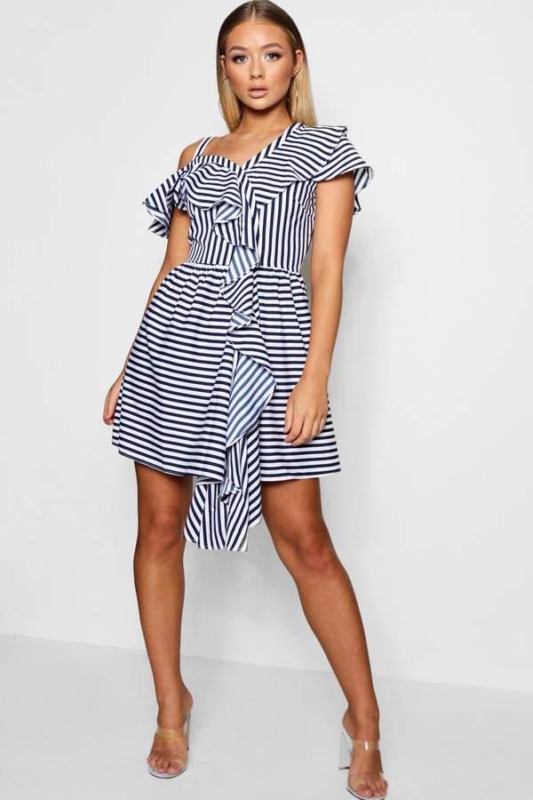 b6097774b971 boohoo Blue Ruffled Dresses - ShopStyle UK