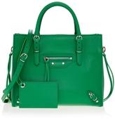 Balenciaga Paper Mini Zip Around Bag