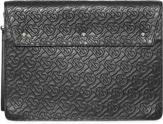 Triple Stud Monogram Leather Document Case