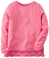 Carter's Baby Girl Long Sleeve Lace Hem Top