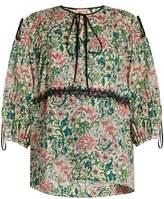 No.21 NO. 21 Floral-print cotton-muslin top